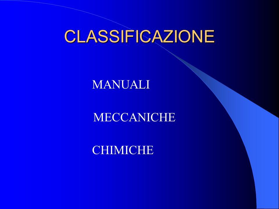 CLASSIFICAZIONE MANUALI MECCANICHE CHIMICHE