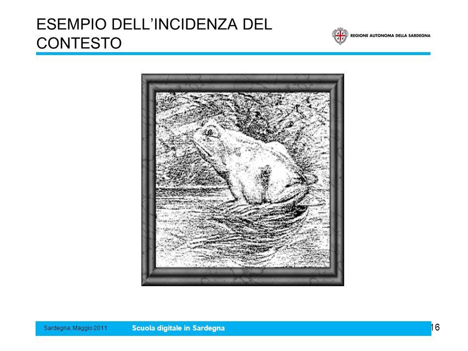 16 ESEMPIO DELLINCIDENZA DEL CONTESTO Sardegna, Maggio 2011 Scuola digitale in Sardegna