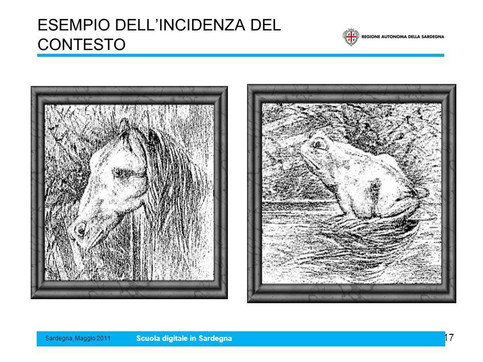 17 ESEMPIO DELLINCIDENZA DEL CONTESTO Sardegna, Maggio 2011 Scuola digitale in Sardegna