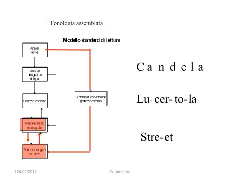 Fonologia assemblata C Lu - cer-to-la Stre-et 124/02/2012Sonia Arina andela