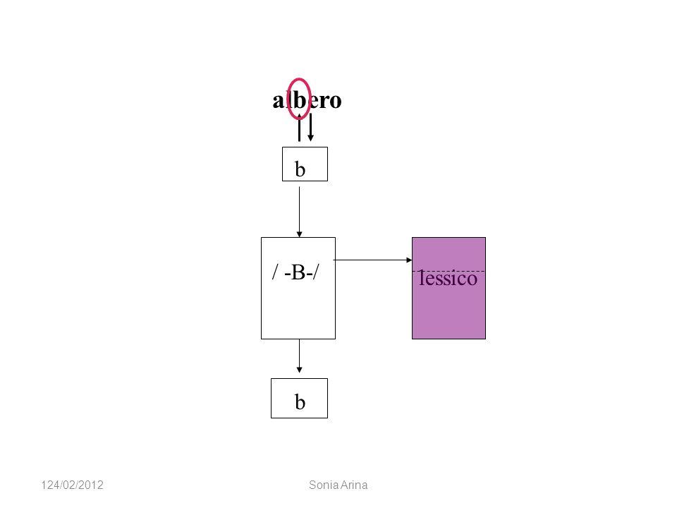 lessico albero b / -B-/ b 124/02/2012Sonia Arina