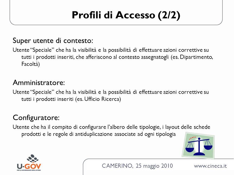 CAMERINO, 25 maggio 2010 www.cineca.it Scheda Prodotto - La scheda del prodotto è composta da 5 step (wizard) - Contiene tutte le informazioni necessarie per descrivere in maniera COMPLETA un prodotto - Può contenere attributi diversi a seconda della tipologia dorigine -Può essere inserita come PROVVISORIO o in stato DEFINITIVO - Contiene attributi obbligatori e/o facoltativi COMPILARE SEMPRE I CAMPI OBBLIGATORI (IN GIALLO) PRIMA DI EFFETTUARE QUALSIASI ALTRA OPERAZIONE!!