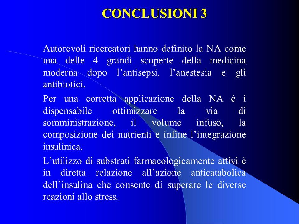 CONCLUSIONI 3 Autorevoli ricercatori hanno definito la NA come una delle 4 grandi scoperte della medicina moderna dopo lantisepsi, lanestesia e gli an