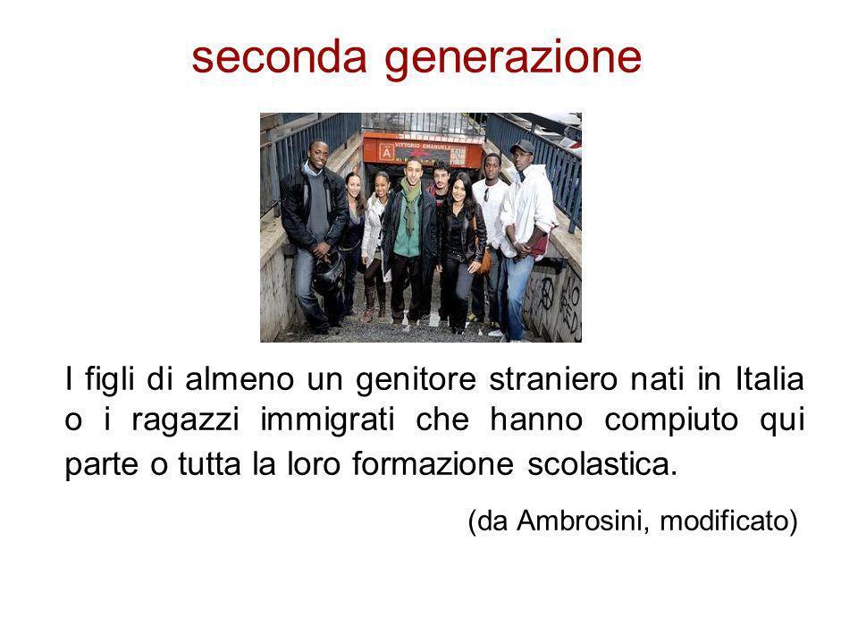 I figli di almeno un genitore straniero nati in Italia o i ragazzi immigrati che hanno compiuto qui parte o tutta la loro formazione scolastica. (da A