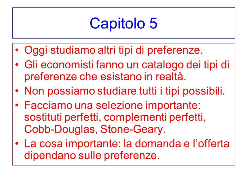 Capitolo 5 Oggi studiamo altri tipi di preferenze.