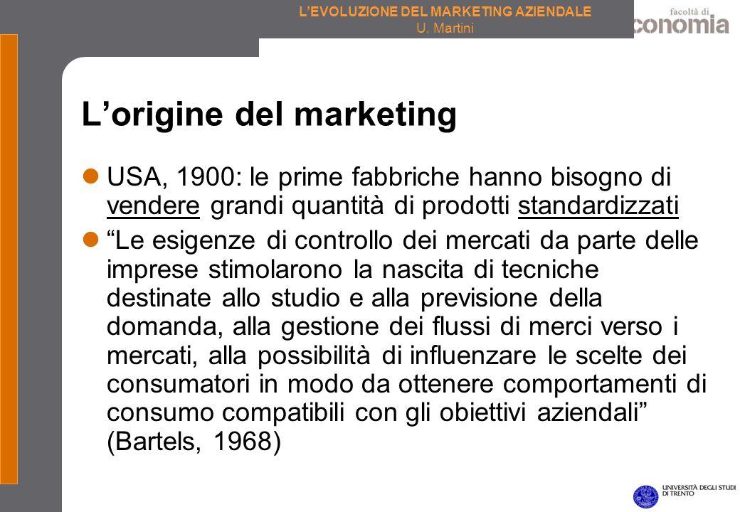 LEVOLUZIONE DEL MARKETING AZIENDALE U. Martini I diversi volti del marketing