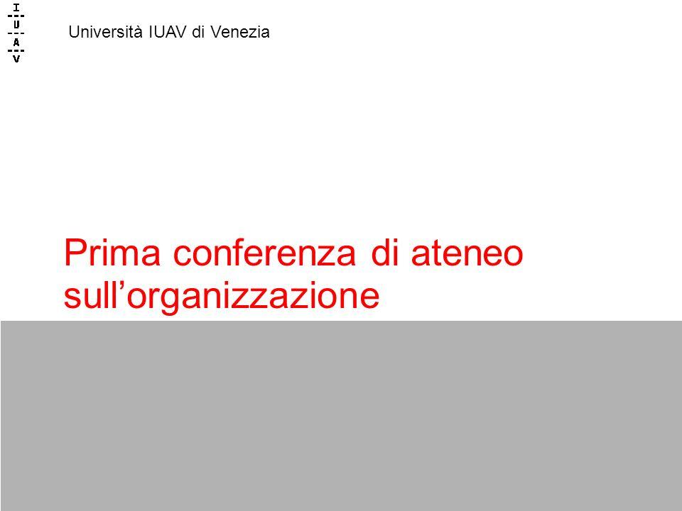 Prima conferenza di ateneo sullorganizzazione Università IUAV di Venezia