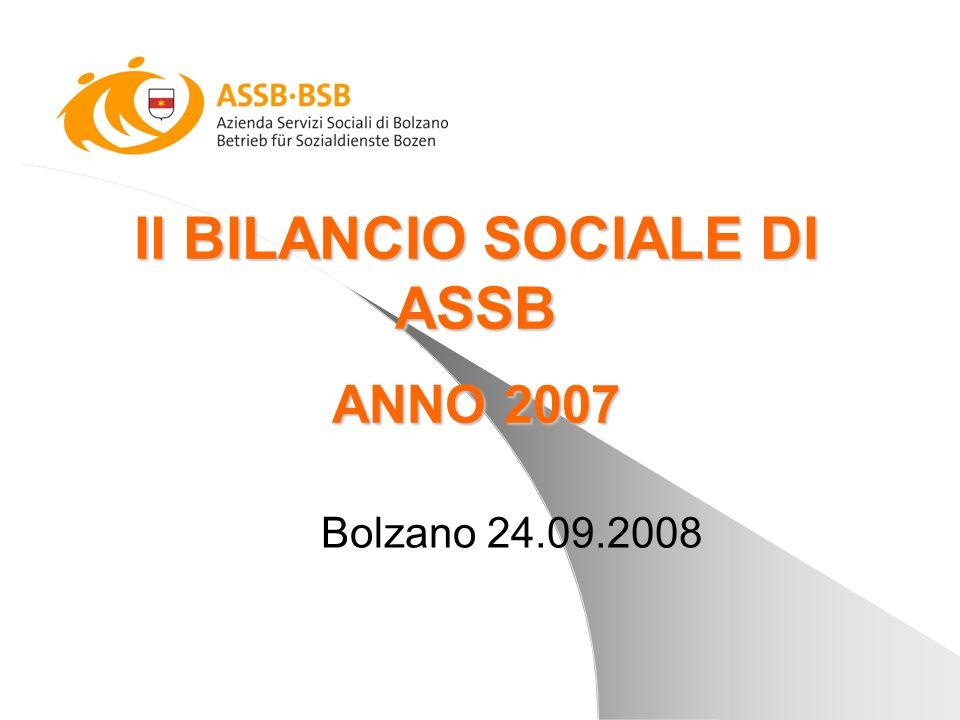 Il BILANCIO SOCIALE DI ASSB ANNO 2007 Bolzano 24.09.2008