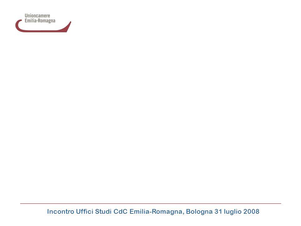 Incontro Uffici Studi CdC Emilia-Romagna, Bologna 31 luglio 2008