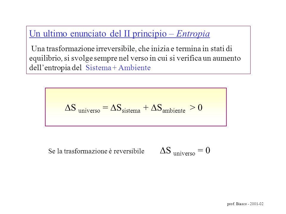 prof. Biasco - 2001-02 Poiché le distribuzioni sono tutte equiprobabili, nel caso delle 4 molecole, considerato un intervallo di tempo di 16 secondi,