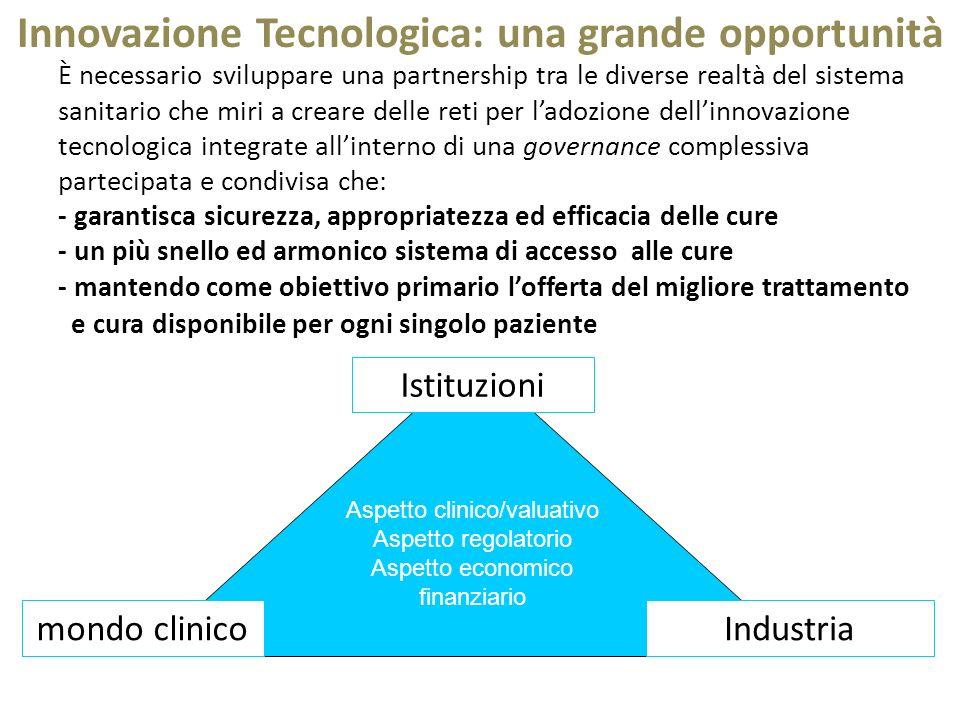È necessario sviluppare una partnership tra le diverse realtà del sistema sanitario che miri a creare delle reti per ladozione dellinnovazione tecnolo