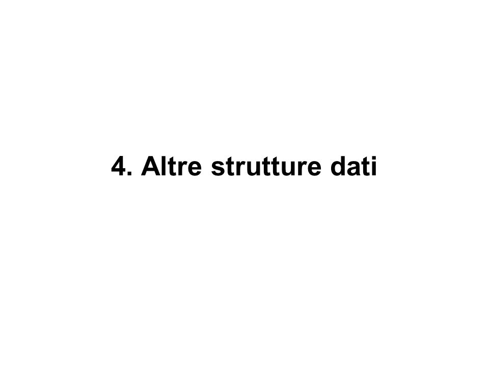 4. Altre strutture dati