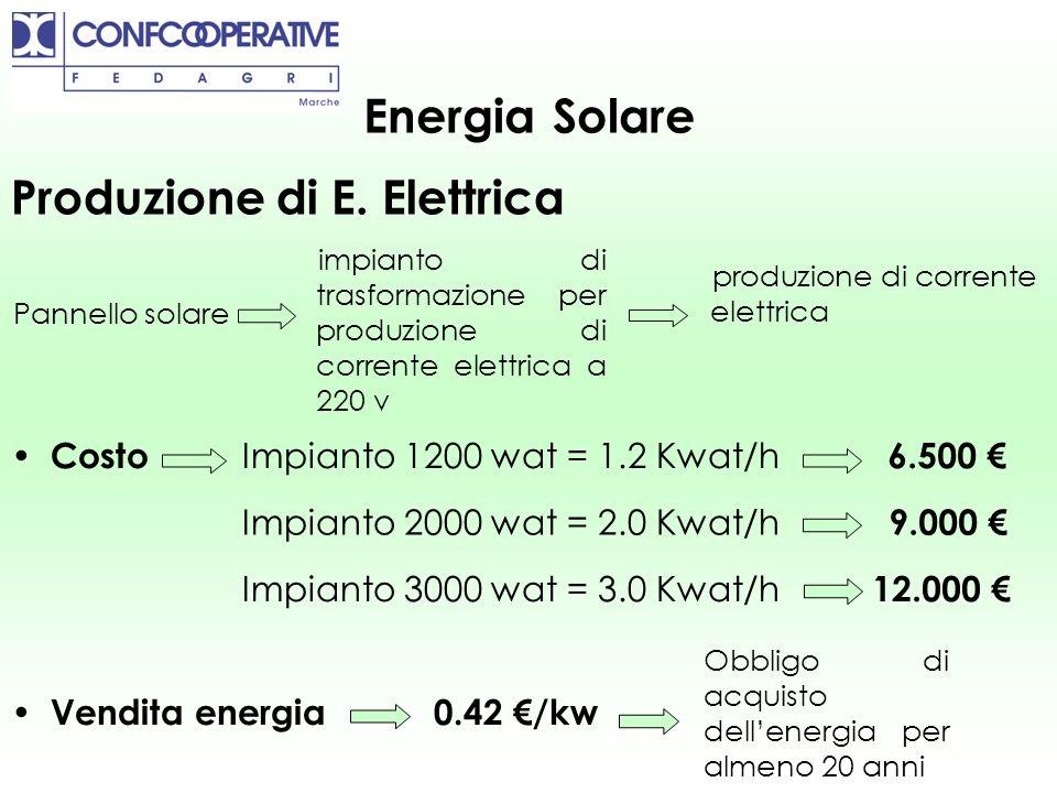 Energia Solare Produzione di E. Elettrica Pannello solare impianto di trasformazione per produzione di corrente elettrica a 220 v produzione di corren