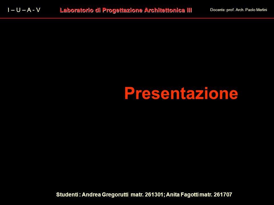 Presentazione Progetto di un Centro Servizi e aree espositive per lindustria I – U – A - V Laboratorio di Progettazione Architettonica III Docente: pr