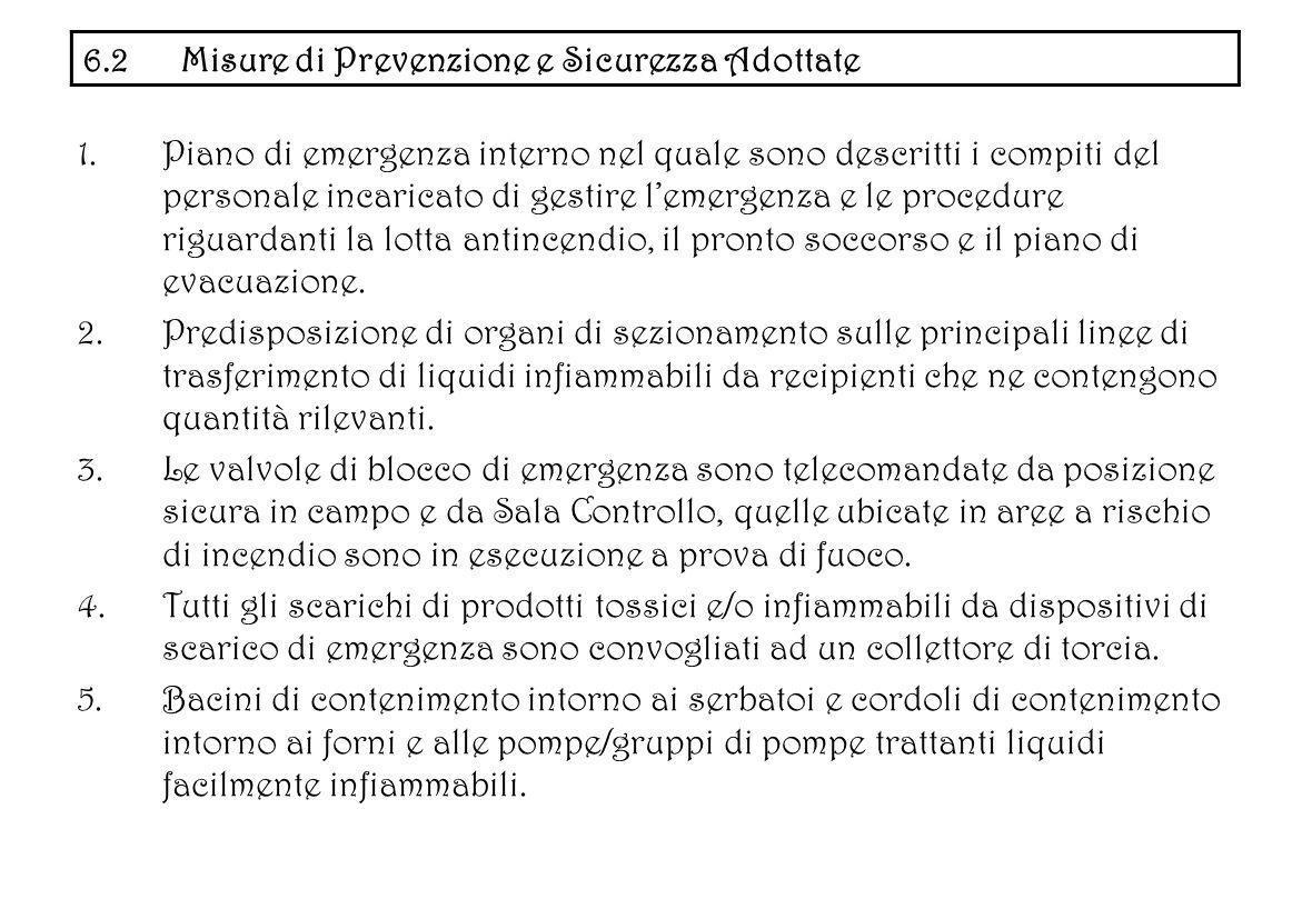 1.Piano di emergenza interno nel quale sono descritti i compiti del personale incaricato di gestire lemergenza e le procedure riguardanti la lotta ant