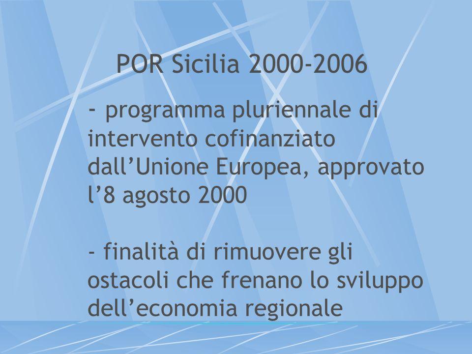 - programma pluriennale di intervento cofinanziato dallUnione Europea, approvato l8 agosto 2000 - finalità di rimuovere gli ostacoli che frenano lo sv