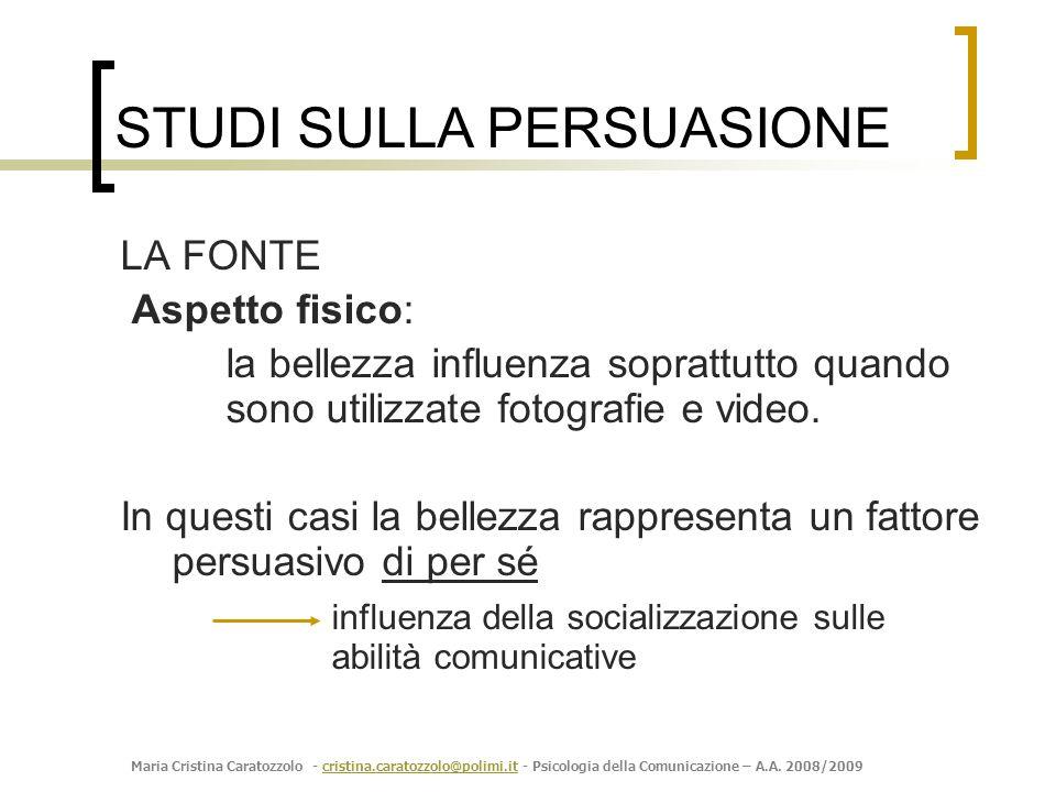 Maria Cristina Caratozzolo - cristina.caratozzolo@polimi.it - Psicologia della Comunicazione – A.A. 2008/2009cristina.caratozzolo@polimi.it LA FONTE A