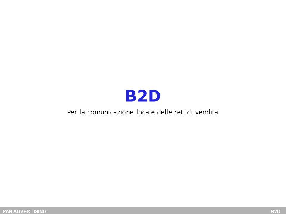 PAN ADVERTISING B2D B2D Per la comunicazione locale delle reti di vendita