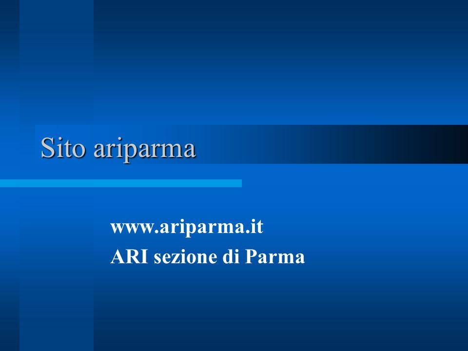Sito ariparma www.ariparma.it ARI sezione di Parma