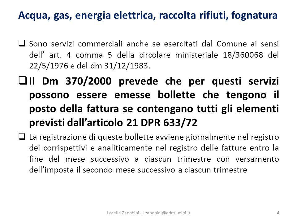Dati obbligatori della fattura - 1 Contenuto definito dalla direttiva 2001/115/CE recepito c.