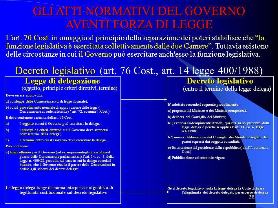 27 3. La fase integrativa dell'efficacia (promulgazione, pubblicazione ed entrata in vigore) Conclusa la fase del l'approvazione, la legge è perfetta,
