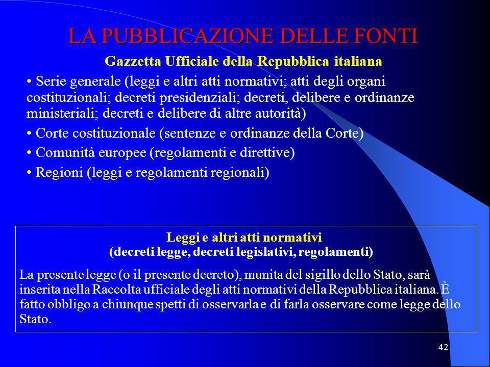 41 Legge di autorizzazione Emanazione regolamento autorizzato Entrata in vigore regolamento I REGOLAMENTI DI DELEGIFICAZIONE Art. 17.2 legge 400/1988
