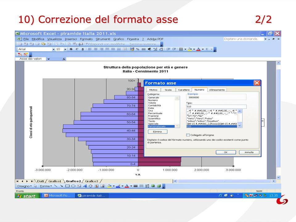 10) Correzione del formato asse 2/2