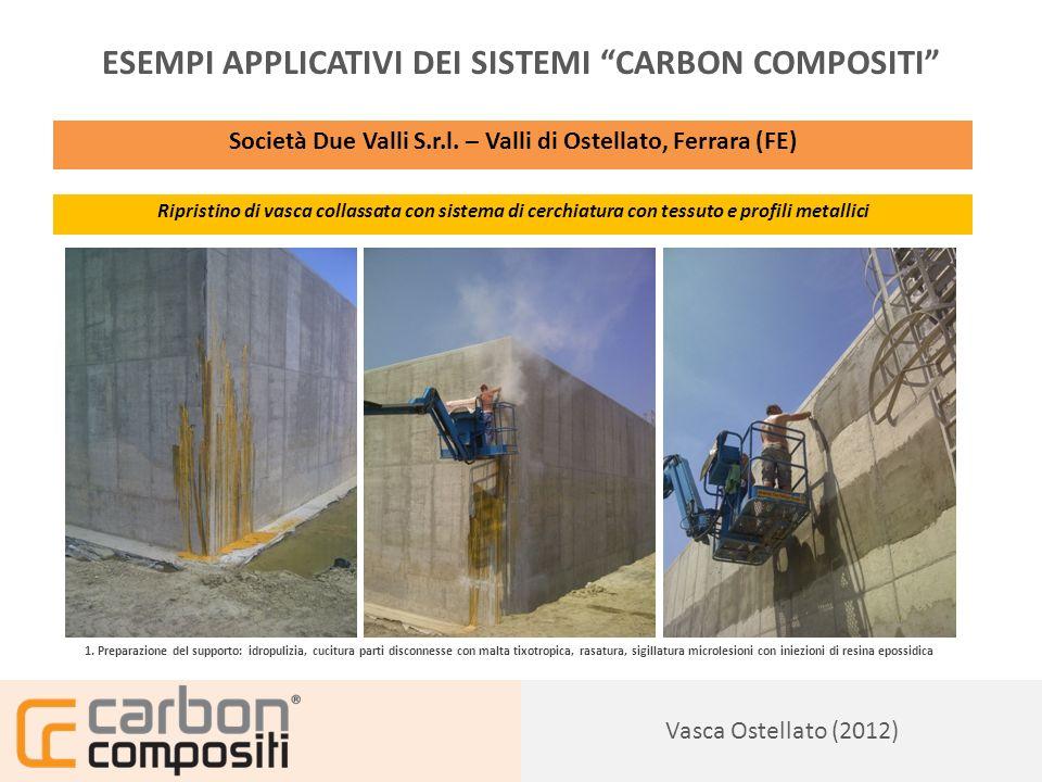 Presentazione129 Vasca Ostellato (2012) ESEMPI APPLICATIVI DEI SISTEMI CARBON COMPOSITI Società Due Valli S.r.l.