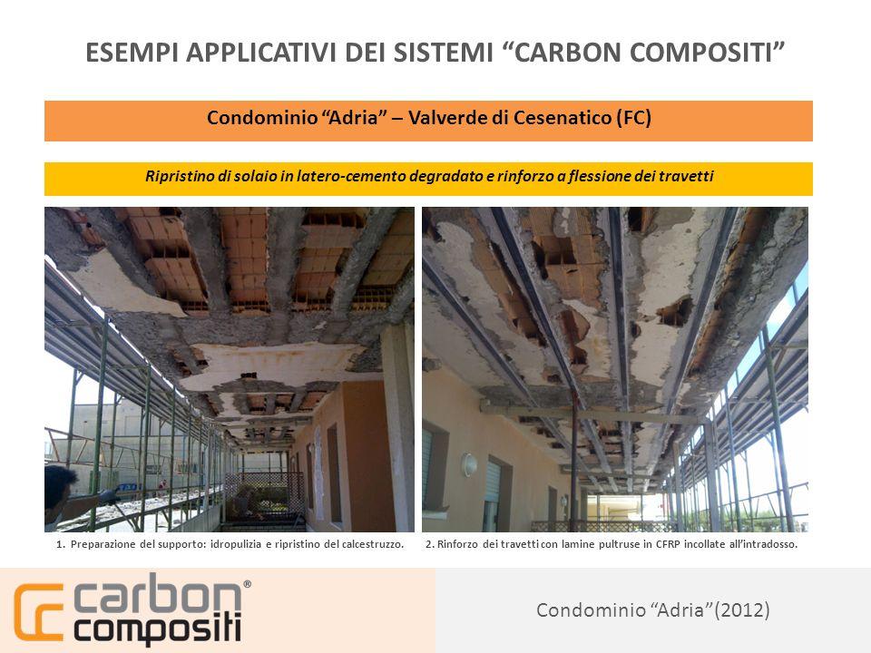 Presentazione142 Civile Abitazione a Ferrara (2012) ESEMPI APPLICATIVI DEI SISTEMI CARBON COMPOSITI Civile Abitazione in muratura – Loc.