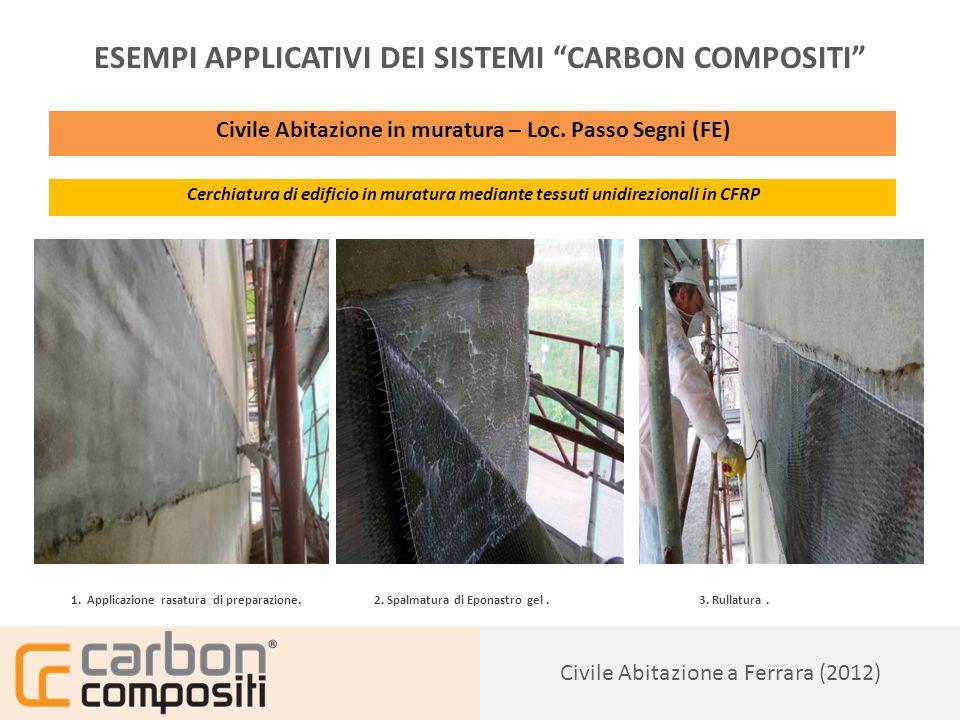 Presentazione143 Civile Abitazione a Ferrara (2012) ESEMPI APPLICATIVI DEI SISTEMI CARBON COMPOSITI Civile Abitazione in muratura – Loc.