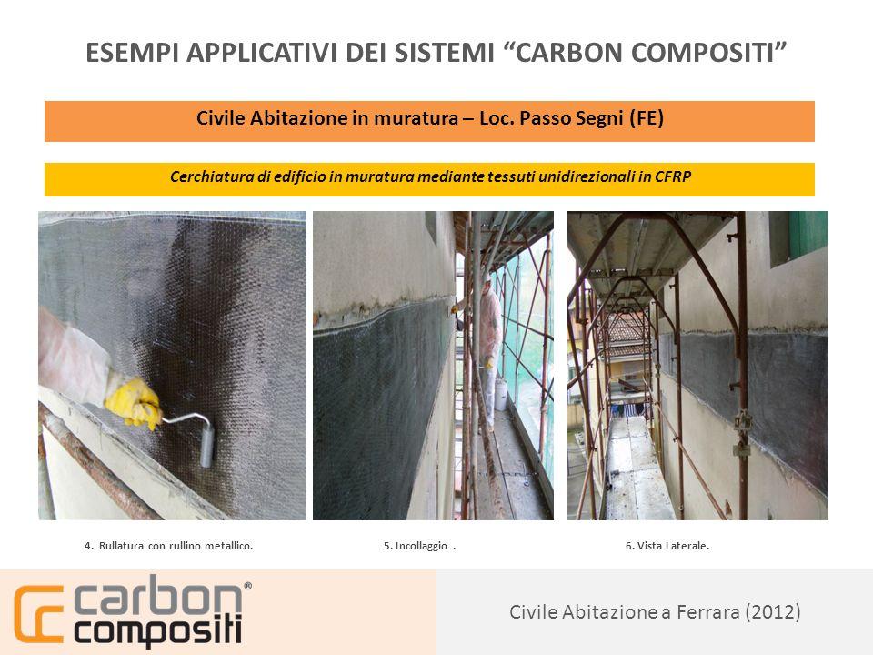 Presentazione144 Civile Abitazione a Ferrara (2012) ESEMPI APPLICATIVI DEI SISTEMI CARBON COMPOSITI Civile Abitazione in muratura – Loc.