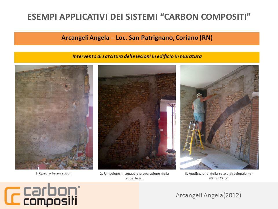 Presentazione152 Arcangeli Angela(2012) ESEMPI APPLICATIVI DEI SISTEMI CARBON COMPOSITI Arcangeli Angela – Loc.