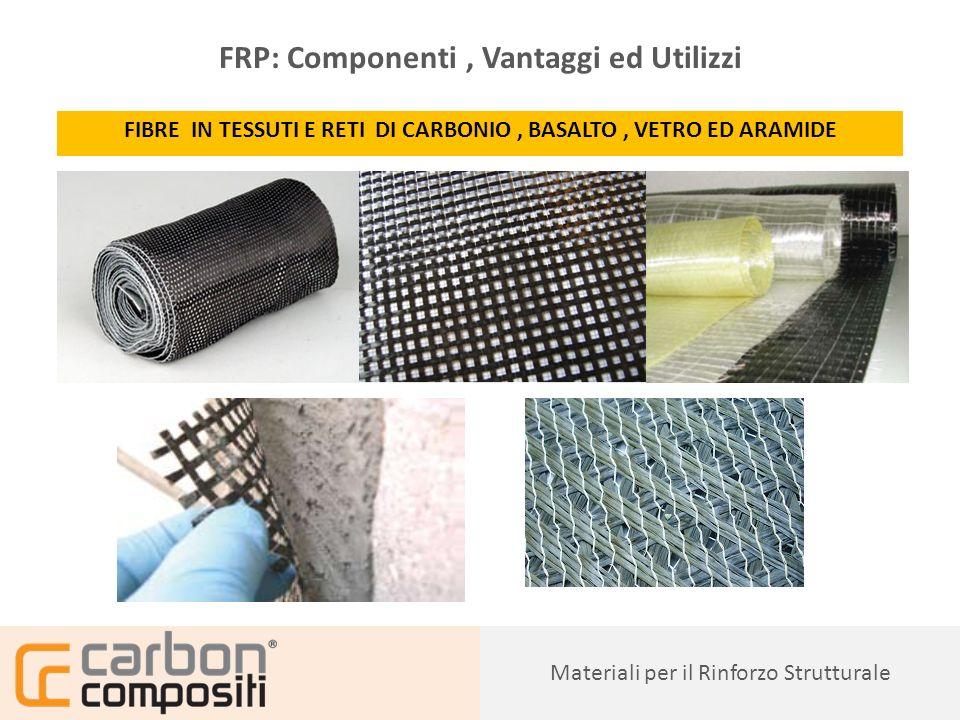 Presentazione17 Caratteristiche dei Compositi e dei loro Componenti ELEMENTI PULTRUSI IN CARBONIO, BASALTO, VETRO Materiali per il Rinforzo Strutturale