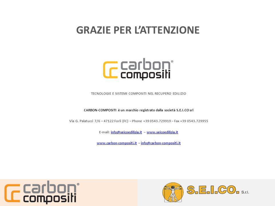 TECNOLOGIE E SISTEMI COMPOSITI NEL RECUPERO EDILIZIO CARBON-COMPOSITI è un marchio registrato dalla società S.E.I.CO srl Via G. Palatucci 7/6 – 47122