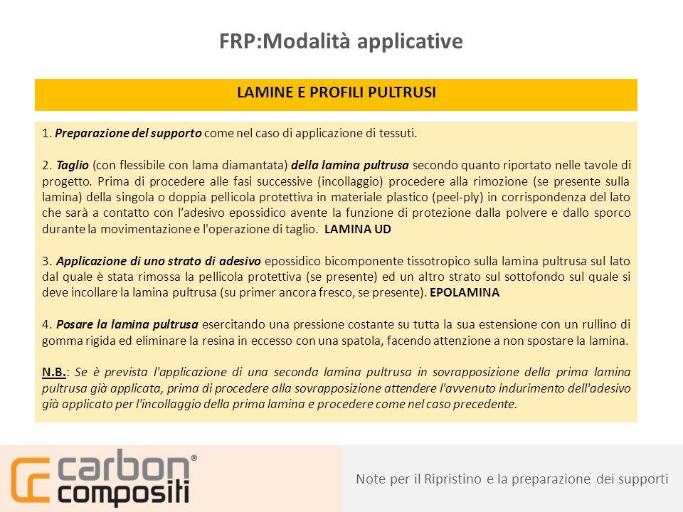 Presentazione25 FRCM:Modalità applicative RETI DI RINFORZO SU STRUTTURE MURARIE 1.