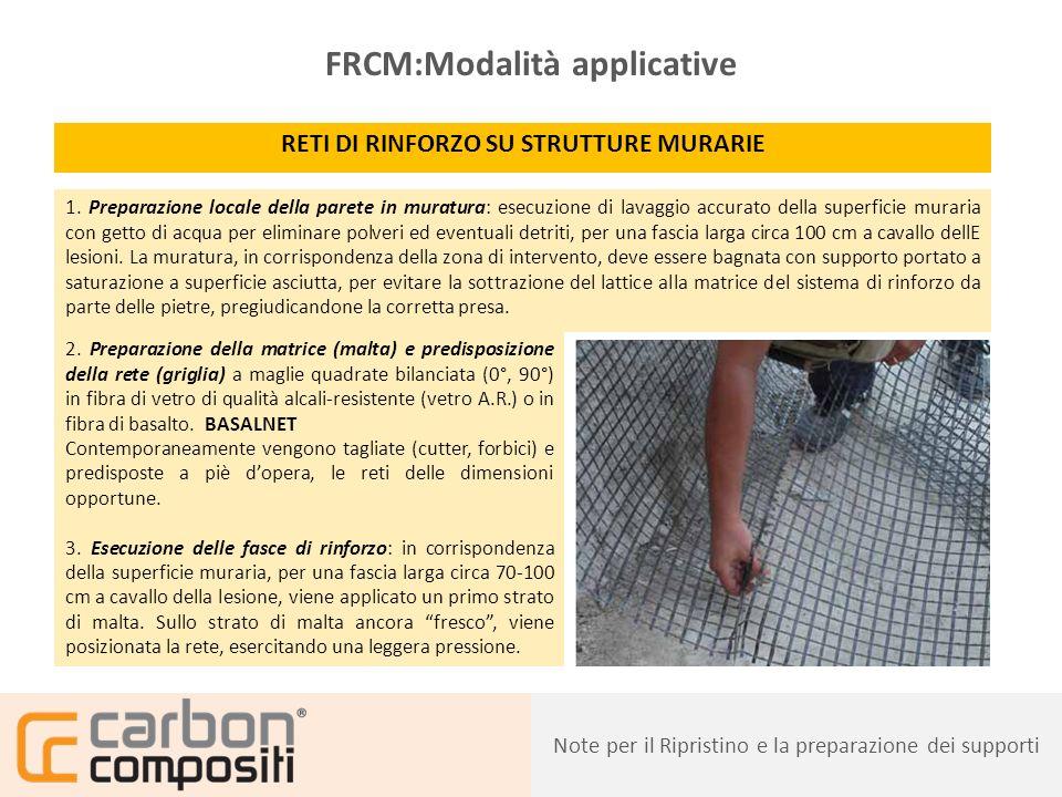 Presentazione26 FRCM:Modalità applicative RETI DI RINFORZO SU STRUTTURE MURARIE 4.