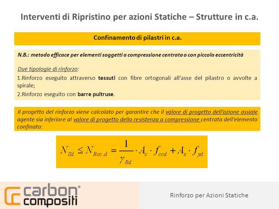 Presentazione51 Confinamento di pilastri in c.a.