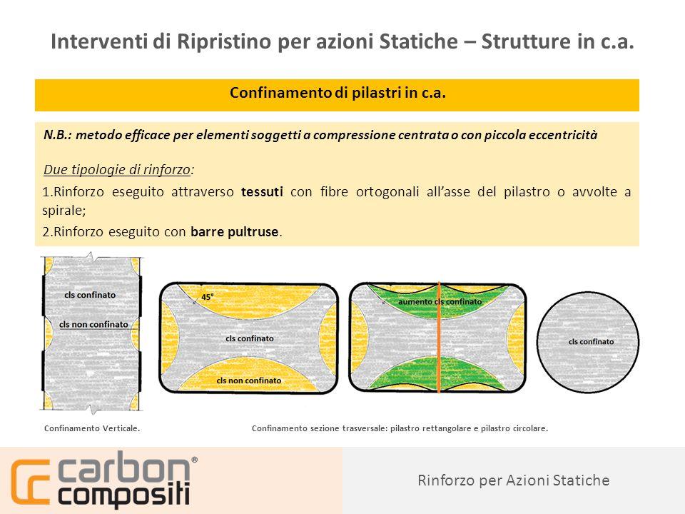 Presentazione52 Confinamento di pilastri in c.a.
