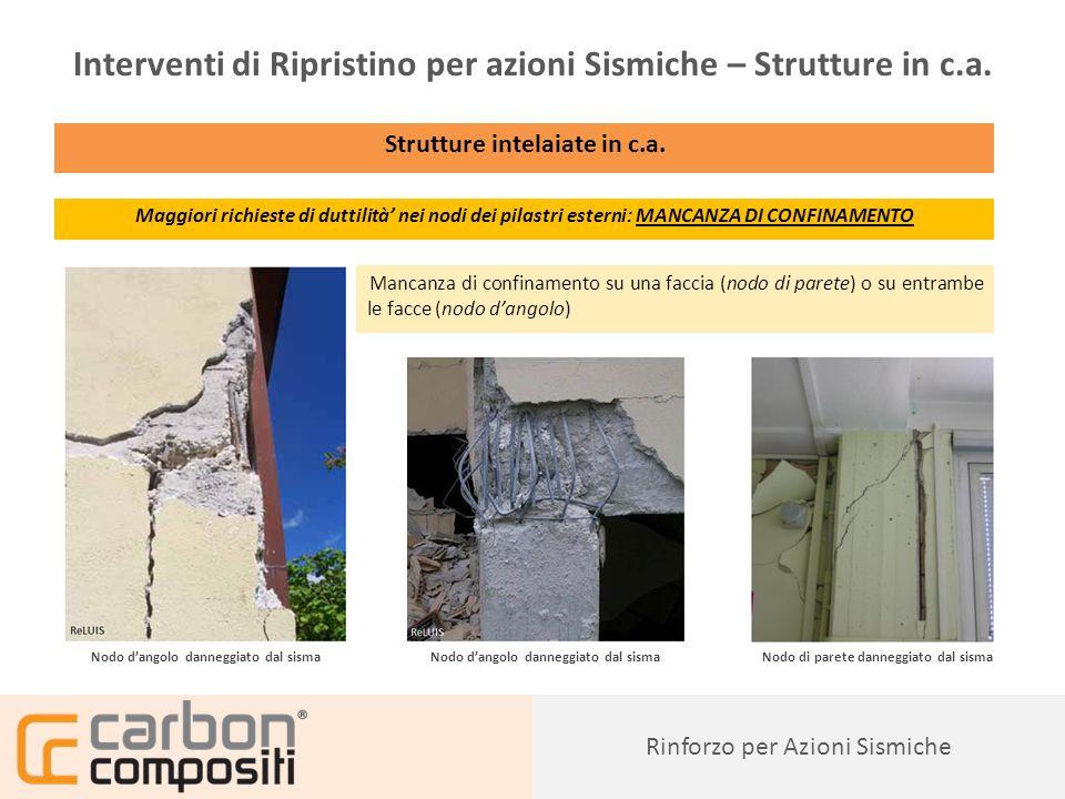 Presentazione78 Rinforzo per Azioni Sismiche Interventi di Ripristino per azioni Sismiche – Strutture in c.a.