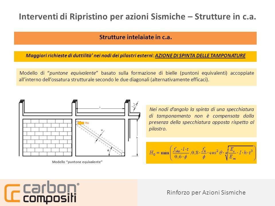 Presentazione79 Rinforzo per Azioni Sismiche Interventi di Ripristino per azioni Sismiche – Strutture in c.a.