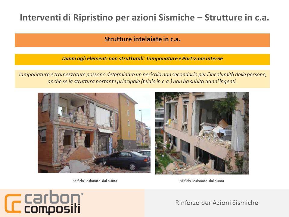 Presentazione89 Rinforzo per Azioni Sismiche Interventi di Ripristino per azioni Sismiche – Strutture in c.a.