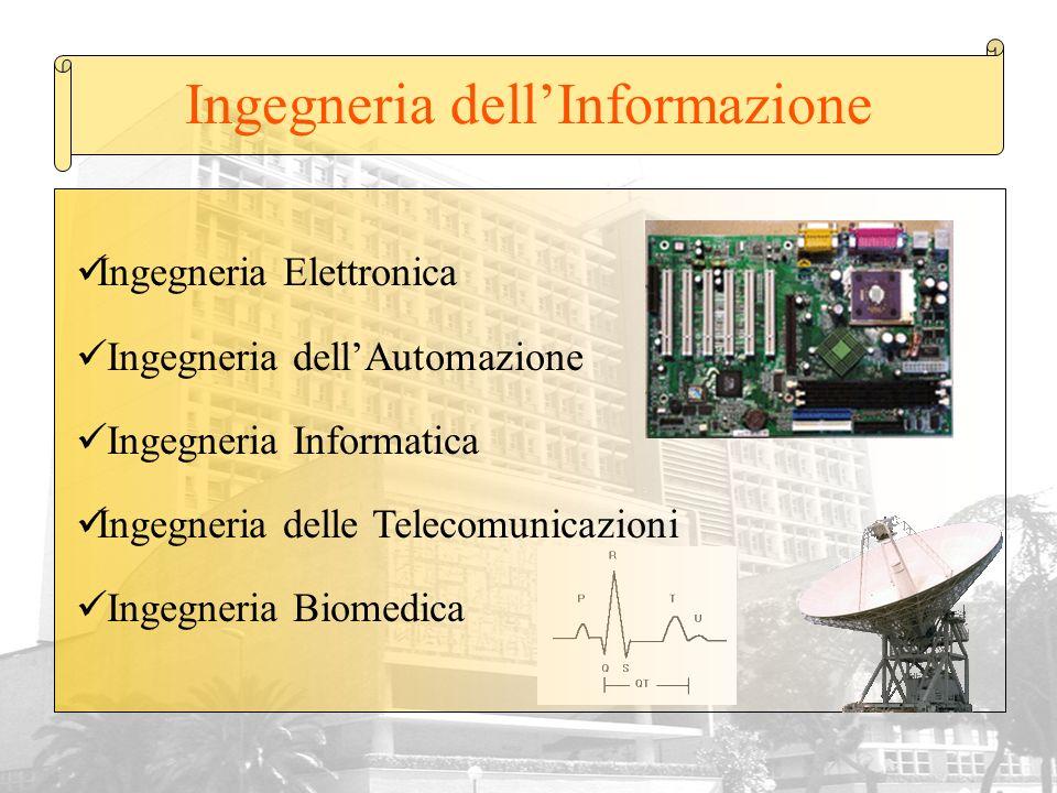 Ingegneria dellInformazione Ingegneria Elettronica Ingegneria dellAutomazione Ingegneria Informatica Ingegneria delle Telecomunicazioni Ingegneria Bio