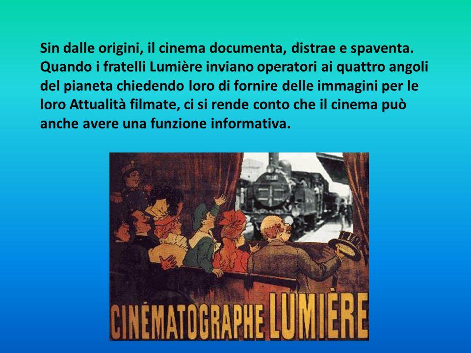 Sin dalle origini, il cinema documenta, distrae e spaventa. Quando i fratelli Lumière inviano operatori ai quattro angoli del pianeta chiedendo loro d