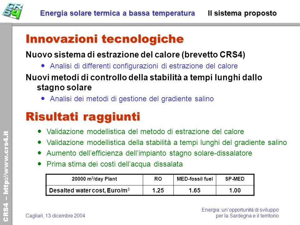 CRS4 – http://www.crs4.it Energia: unopportunità di sviluppo per la Sardegna e il territorioCagliari, 13 dicembre 2004 Energia solare termica a bassa