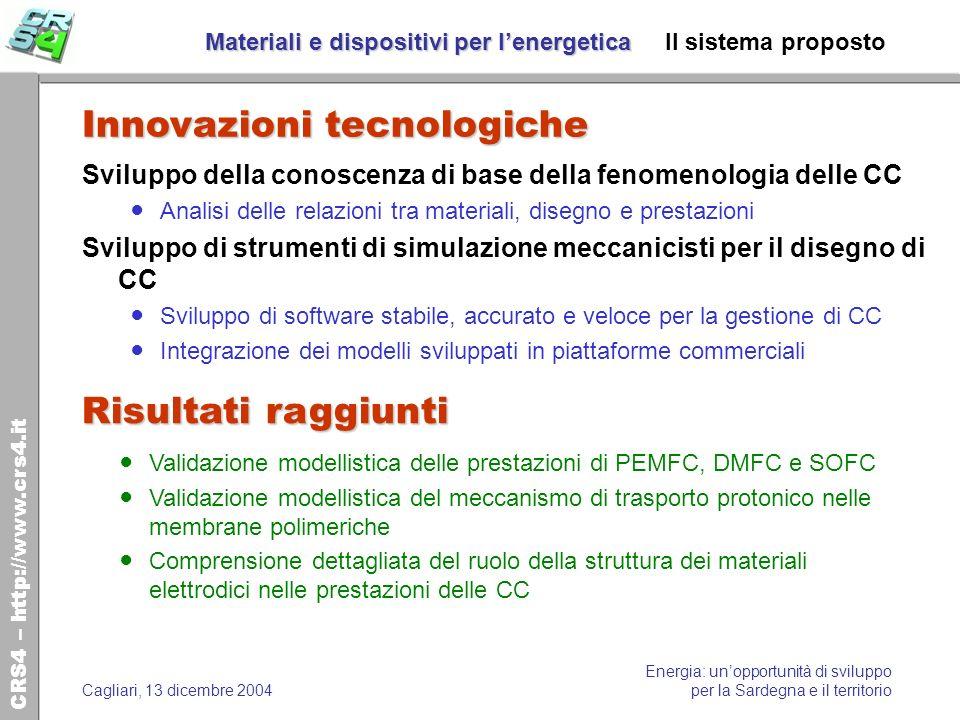 CRS4 – http://www.crs4.it Energia: unopportunità di sviluppo per la Sardegna e il territorioCagliari, 13 dicembre 2004 Materiali e dispositivi per len