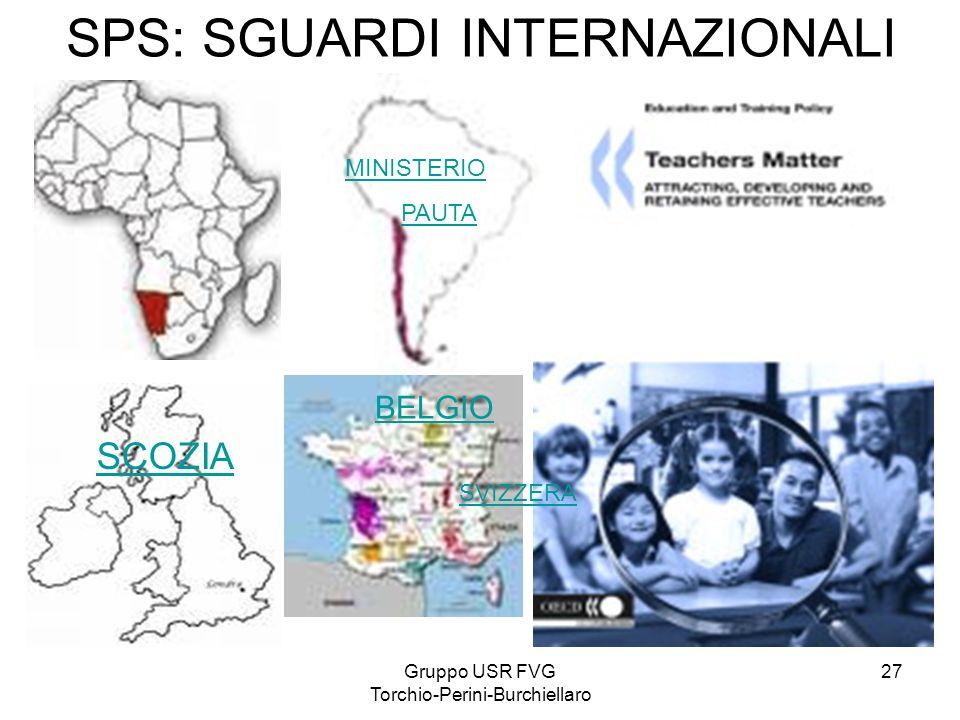 Gruppo USR FVG Torchio-Perini-Burchiellaro 27 SPS: SGUARDI INTERNAZIONALI SCOZIA BELGIO MINISTERIO PAUTA SVIZZERA