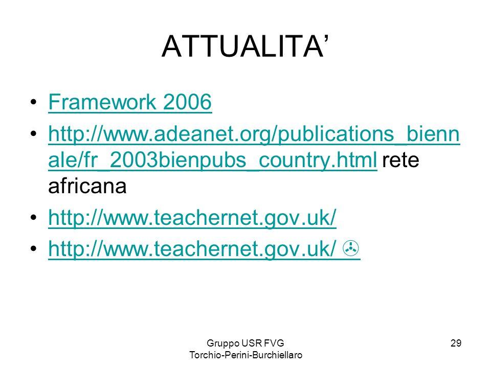 Gruppo USR FVG Torchio-Perini-Burchiellaro 29 ATTUALITA Framework 2006 http://www.adeanet.org/publications_bienn ale/fr_2003bienpubs_country.html rete