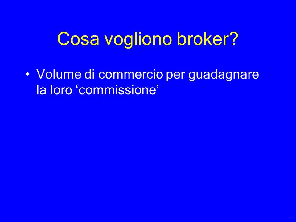 Cosa vogliono broker? Volume di commercio per guadagnare la loro commissione