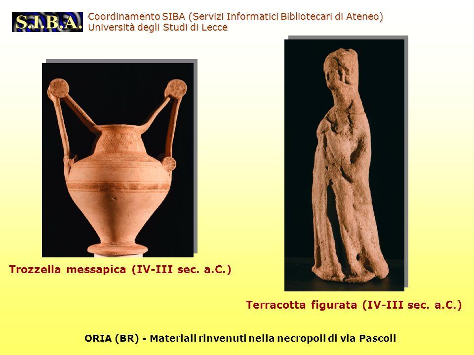 Coordinamento SIBA (Servizi Informatici Bibliotecari di Ateneo) Università degli Studi di Lecce Terracotta figurata (IV-III sec.