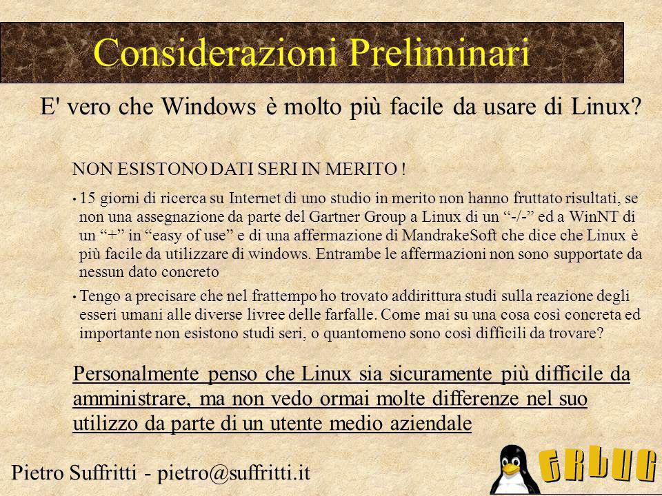 TCO Windows: costi indiretti Pietro Suffritti - pietro@suffritti.it